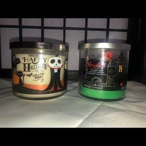 2 new Halloween bath & body works & Yankee candle